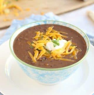 Healthy black bean soup