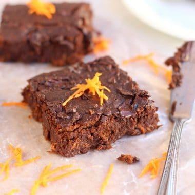 Healthy (Yet Fudgy!) Carrot Brownies