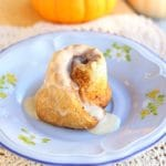 Healthy pumpkin cinnamon rolls
