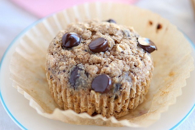 Oatmeal oat flour muffins without sugar
