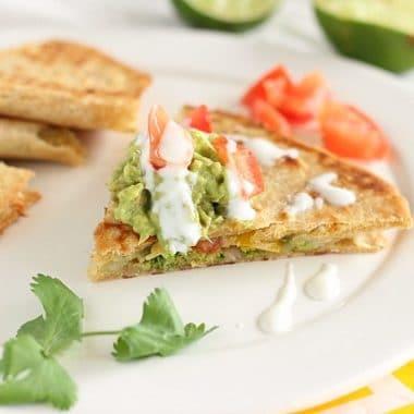 Oven-Baked Vegetarian Quesadillas