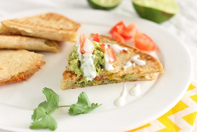 Oven-Baked Vegetarian Quesadillas