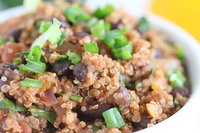 Southwestern quinoa and bean casserole