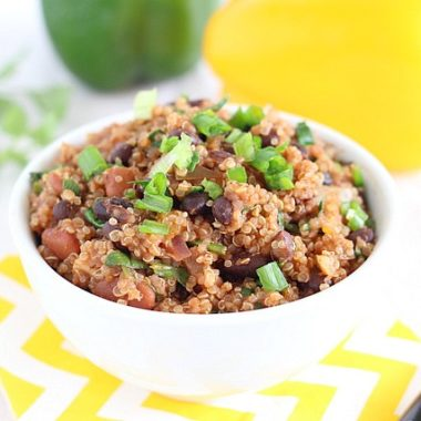 Quinoa with black beans and Mexican spices