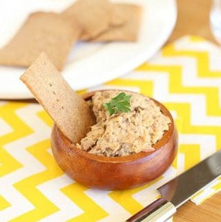 Cracker or toast spread made with fish
