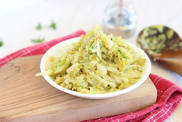 Healthy fried cabbage
