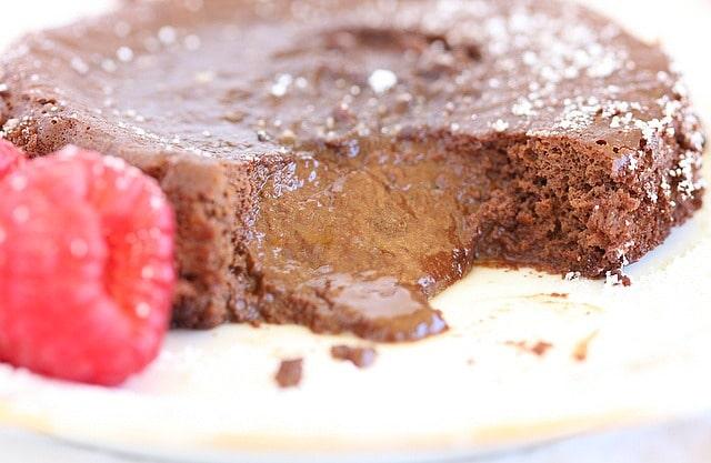 Paleo lava cake