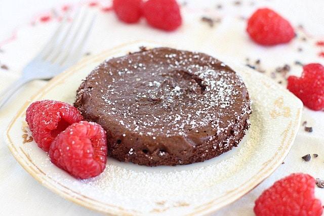 Easy lava cake recipe with coconut sugar