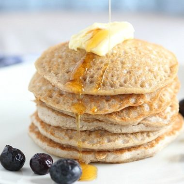 Oil-free buckwheat pancakes