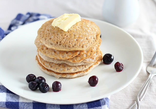 Low sugar buckwheat pancakes