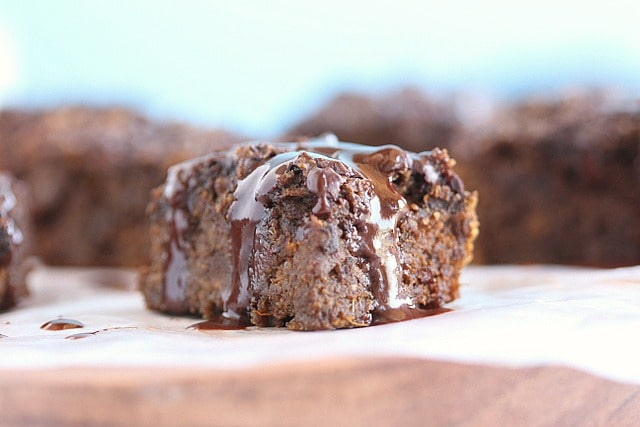 Vegan sweet potato brownie with oats