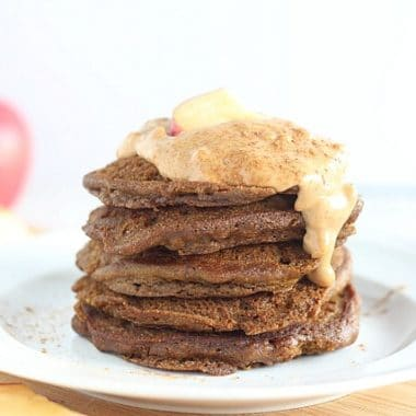 Healthy teff and honey pancakes