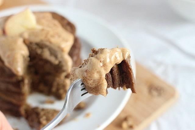 Teff flour pancakes that are high protein