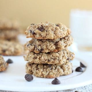 Vegan chocolate chip cookies with buckwheat flour