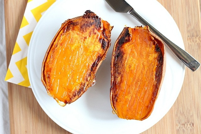 How to bake a sweet potato in a hurry