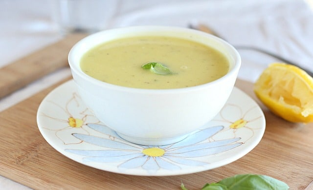 Creamy summer squash basil soup recipe