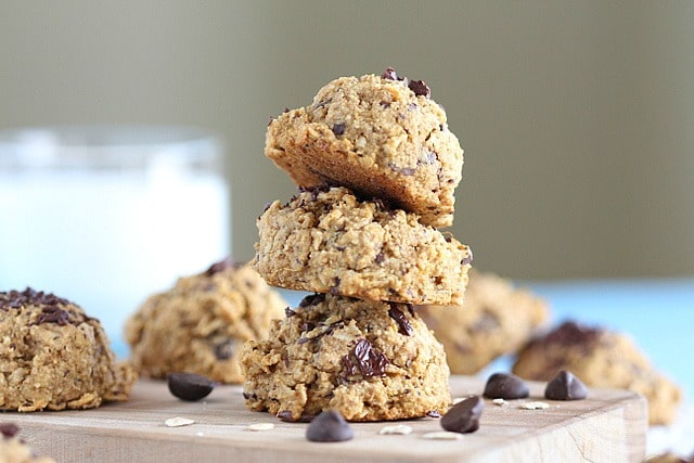 Healthy cookie recipe made with millet, oats, and sweet potato