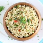 Instant Pot Herb and Vegetable Brown Rice