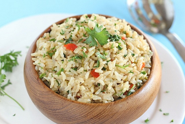 Vegetable brown rice on the cheap