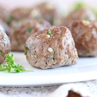 Grain-free, egg-free Italian meatballs