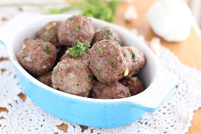 Egg-free meatballs with 100% ground beef