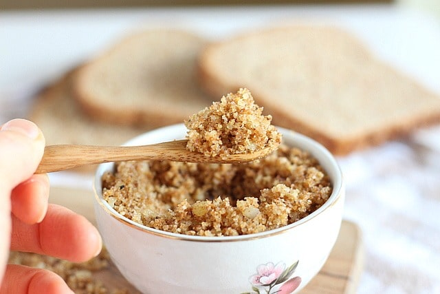 Breadcrumbs made from scratch with parmesan seasoning