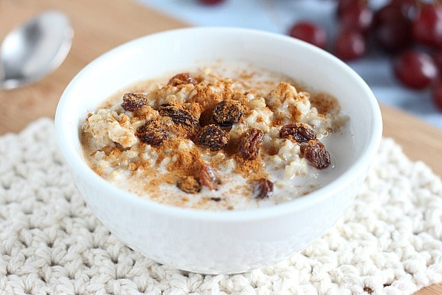Instant Pot steel cut oatmeal made with coconut oil