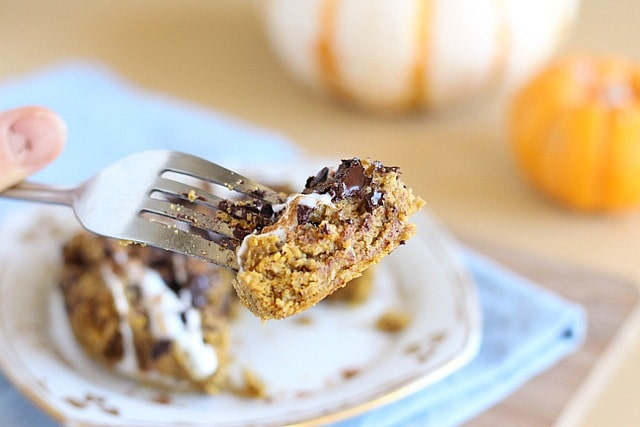 Healthy pumpkin cookie with chocolate chips