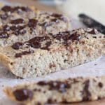 Buckwheat chocolate chip loaf cake