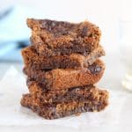 Low Sugar Cinnamon Almond Butter Blondies
