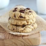 Healthy Low Sugar Chocolate Chip Cookies (Nut-Free, GF, Vegan)