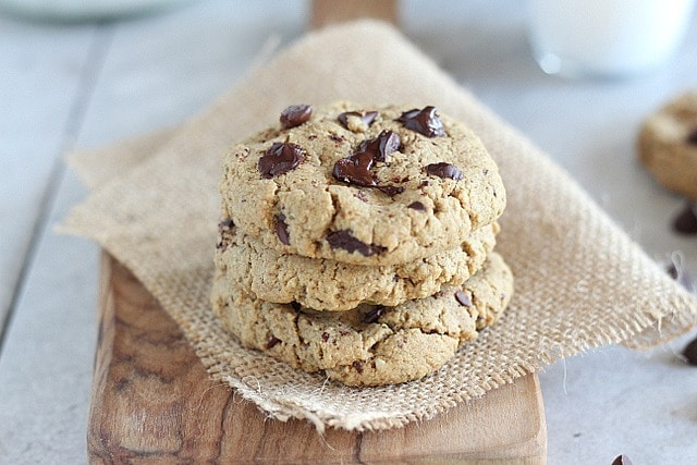 Chocolate chip cookies made with coconut sugar and stevia