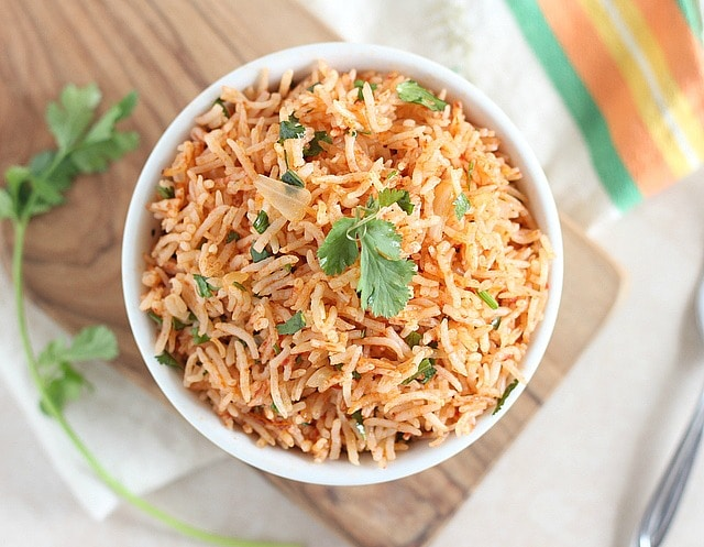 Gluten-free and vegan recipe for Mexican rice made in the pressure cooker
