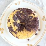 Coconut flour mug cake made with egg and coconut oil