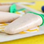 Banana yogurt peanut butter popsicles without sugar