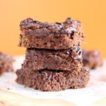 Oat flour chocolate cake bars made with honey