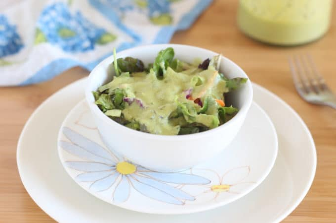 Zucchini-based salad dressing made with apple cider vinegar