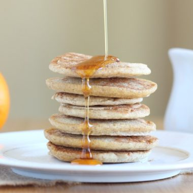 Candida-friendly pancakes made with buckwheat and millet