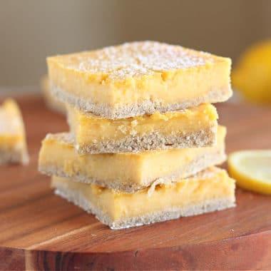 Healthy lemon bar recipe with oats