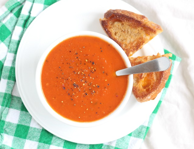 Tomato soup without butter or cream