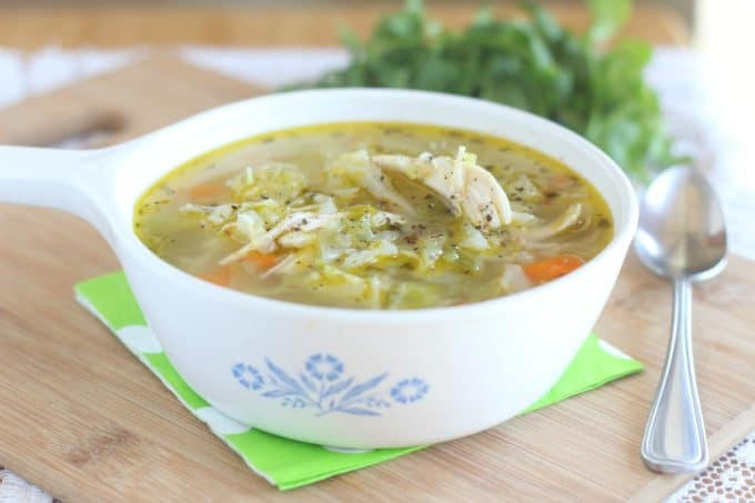 Healthy, low carb cabbage soup