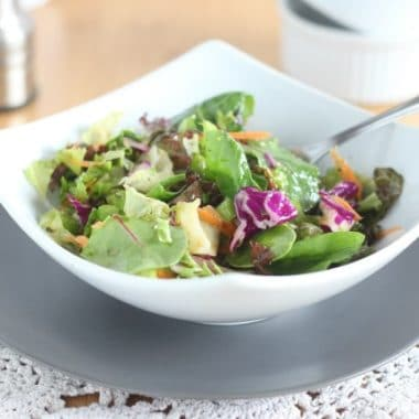 Homemade salad dressing made in one bowl