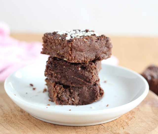 Fudgy healthy brownies with pumpkin seeds