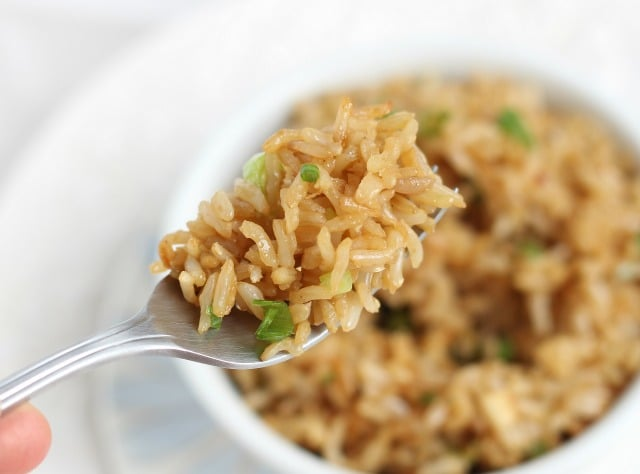 Easy fried rice recipe with gluten-free soy sauce