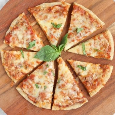 Soaked pizza crust made with spelt flour