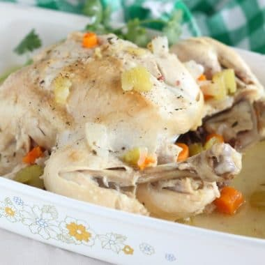 Healthy whole chicken recipe made in Instant Pot