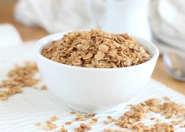 Four ingredient granola with maple syrup