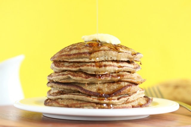 Blender pancake recipe with oatmeal