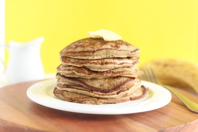 Healthy pancakes made in the blender