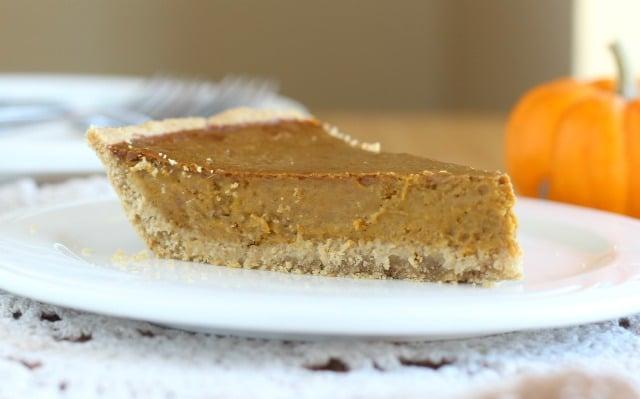Pumpkin pie made with coconut sugar